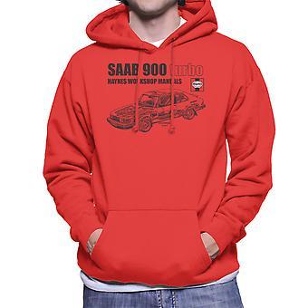 Haynes Workshop Manual 0765 Saab 900 Turbo Black Men's Hooded Sweatshirt