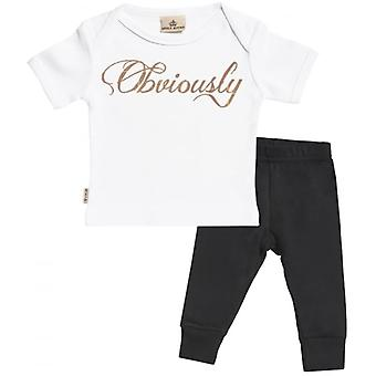 Spoilt Rotten Obviously Baby T-Shirt & Baby Jersey Trousers Outfit Set
