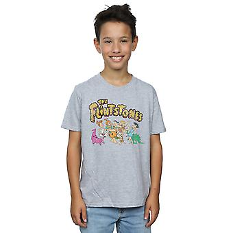The Flintstones Boys Group Distressed T-Shirt