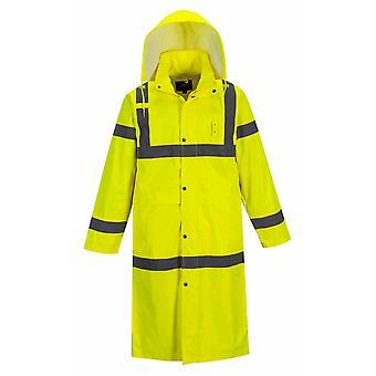 Portwest - Hi-Vis Ασφάλεια Workwear X-Long αδιάβροχο κουκούλα αδιάβροχο 122 cm μήκος