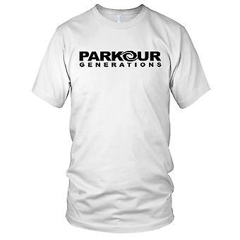 Rue de générations de Parkour qui Mens T Shirt