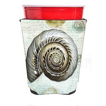 Carolines skatter SB3033RSC skjell røde Solo kopp drikke isolator Hugger