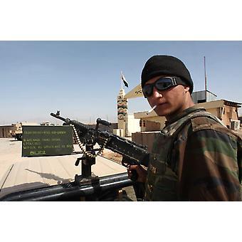 Afghan National Army Soldat in Tarin Kowt Afghanistan Poster Print von VWPicsStocktrek Bilder