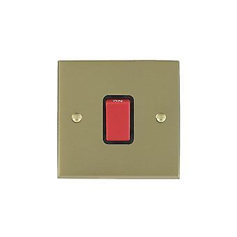 ハミルトン Litestat ・ チェリトン ビクトリア サテン黄銅 1 g 45A ダブル ポール赤 Rkr/BL