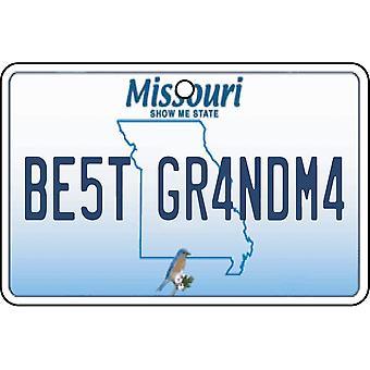 Missouri - Best oma License Plate auto luchtverfrisser