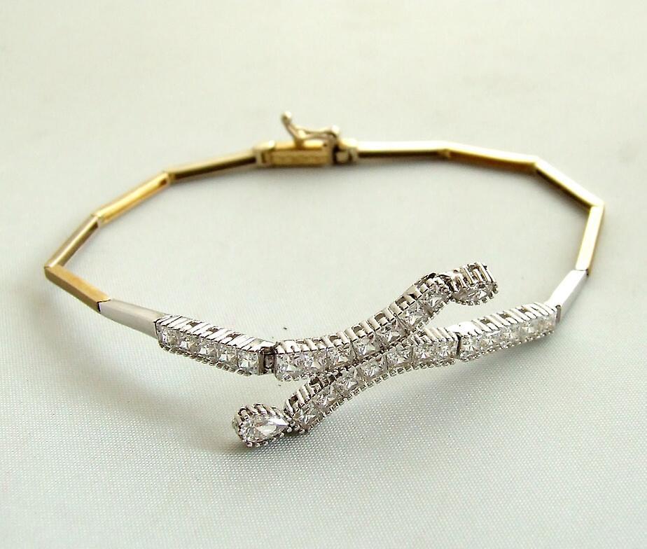 Gouden zirkonia armband