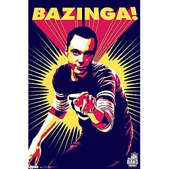 Big Bang Theory - Sheldon Cooper Bazinga Poster stampa