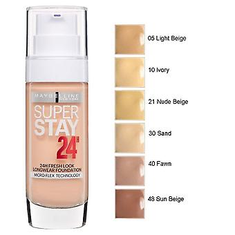 2 x Maybelline Superstay 24h Fresh Look Longwear Fondation 30ml différentes nuances