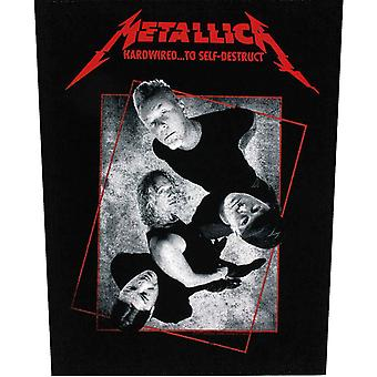 Metallica Back patch Hardwired To Self-destruct new Official sew on 36cm x 29cm