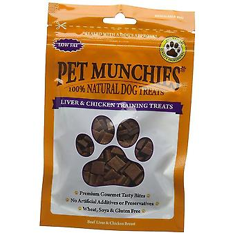 PET Munchies výcvik psov lieči pečeň & amp; Kuracie 50g, balenie po 8