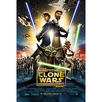 Star Wars Clone Wars elokuvajuliste (11 x 17)