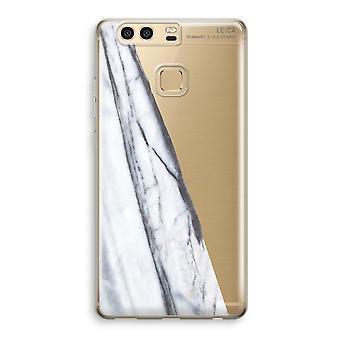 Huawei P9 gjennomsiktig sak (myk) - stripete marmor