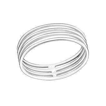 Stapelbar - 925 Sterling Silber Plain Ringe - W30510x