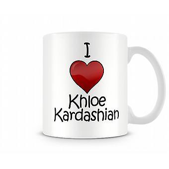 Ik hou van Khloe Kardashian bedrukte mok