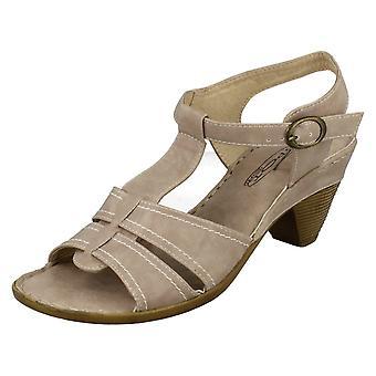 Womens Spot på midten av hælen T Bar Sandal F10147