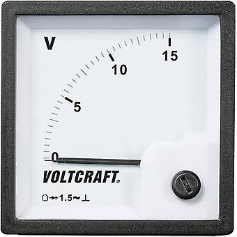 Montaggio a rack analogico metro VOLTCRAFT AM-72 x 72/15V 15 V Moving coil