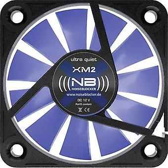 NoiseBlocker BlackSilent XM-2 PC-ventilator Black, Blue (transparant) (W x H x D) 40 x 40 x 10 mm