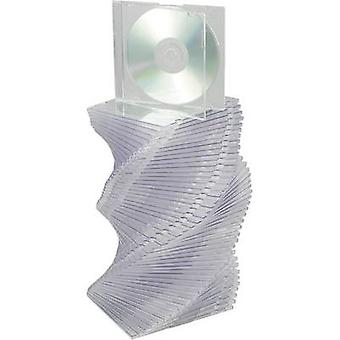 CD Slimline Jewel case 1 Kunststoff Transparent 50 CD/DVD/Blu-Ray-PC