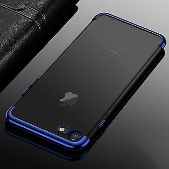 Cell phone dækning case for Apple iPhone 7 / 8 transparent gennemsigtig blå