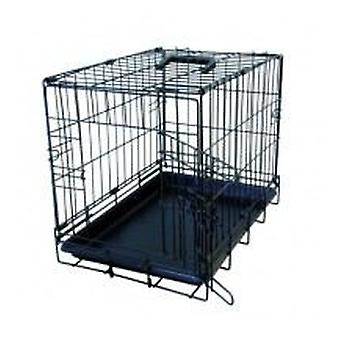 Flamingo Black Cage with 1 Door (47X30X37Cm) (Dogs , Transport & Travel , Cages)