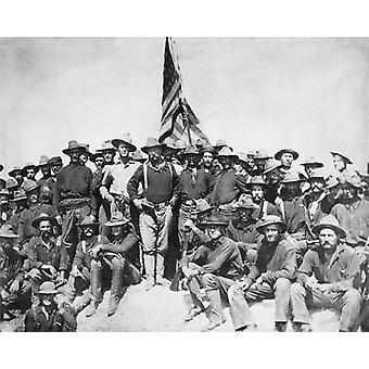 Theodore Roosevelt and the Rough Riders San Juan Hill Cuba July 1 1898 Poster Print by McMahan Photo Archive (10 x 8)