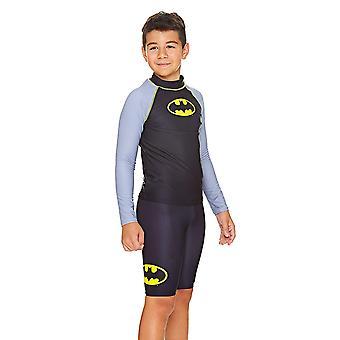 Zoggs barn Batman langermet Sun toppen, svart/grå