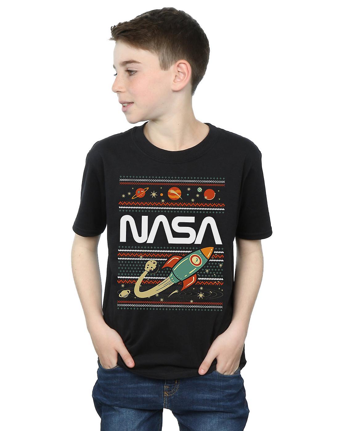 NASA Boys Fair Isle T-Shirt