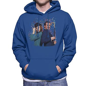 TV Times Avengers Diana Rigg And Patrick Macnee Men's Hooded Sweatshirt
