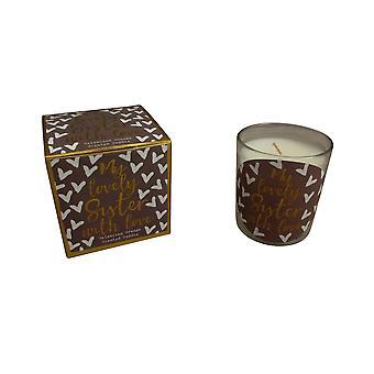 Härliga syster gåva Boxed Candle
