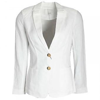 Oui Women's Linen Button Blazer