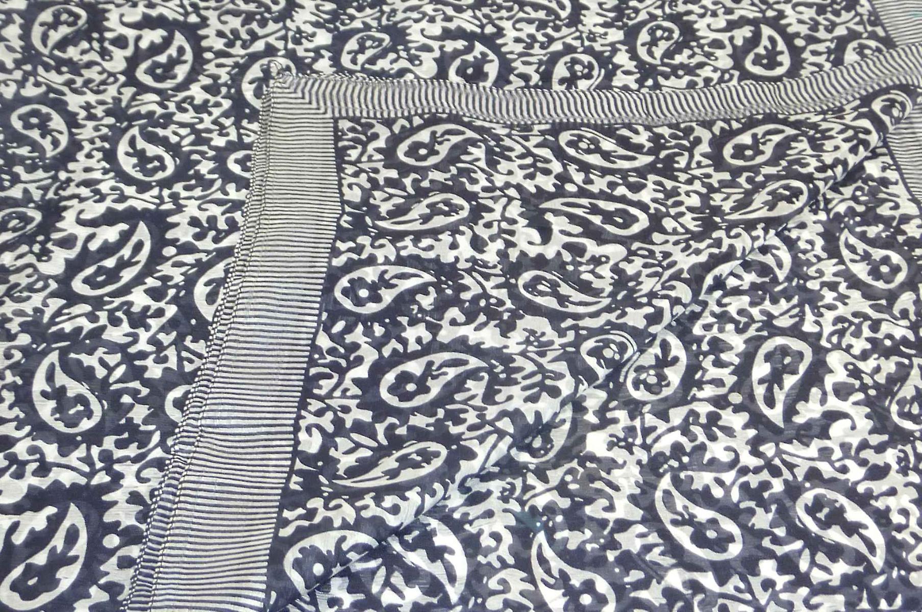 Mulberry Silk Classic Square Scarf Amba Black & White by Pashmina & Silk
