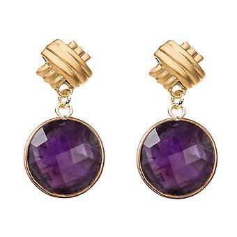 Gemshine kvinnors Örhängen violett ametist ädelstenar 925 silver eller guldpläterad