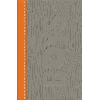 Biblia de estudio de la CSB para niños carbón/naranja - madera diseño Leathertouch b