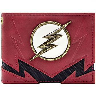 Flash najszybszy człowiek żyje złota odznaka ID & karty Bi-Fold portfel