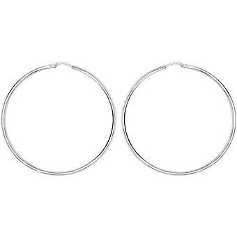 Bella 30mm Hoop Earrings - Silver