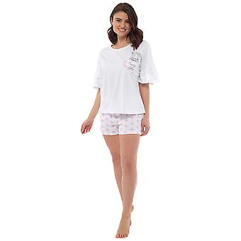 Foxbury Womens/Ladies Tea Cup Kitty Pyjama Set