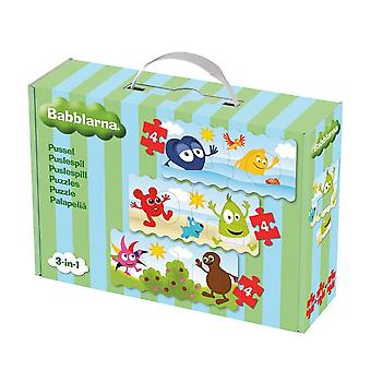 Babblarna Puzzle dla niemowląt 3 x 4 sztuki