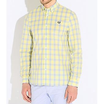 Fred Perry Tartan Gingham Mix Men's Long Sleeve Shirt M8274-540