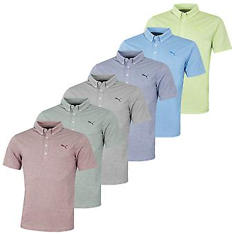 Puma Golf Mężczyźni Oxford Heather dryCELL Krótki rękaw Koszulka Polo Top