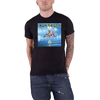 Iron Maiden T Shirt Seventh Son Cover Box Band Logo new Official Mens Black