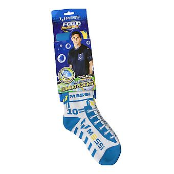Messi Footbubbles Jumbo Socks Blue