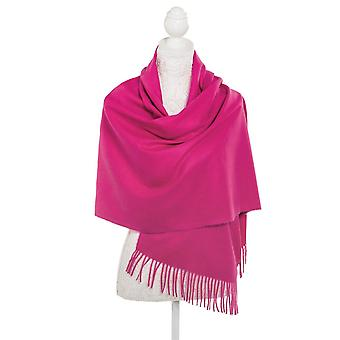 Eternal Collection Pashmina Fuchsia Pink Oblong Soft Polyester Scarf