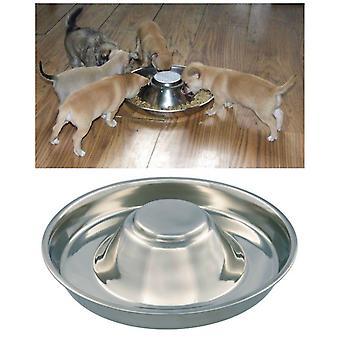 جرو الفولاذ المقاوم للصدأ كابالو، القط، والكلب، والحيوانات الأليفة، القمامة الأغذية التغذية & الفطام وعاء علبة التغذية بالورق