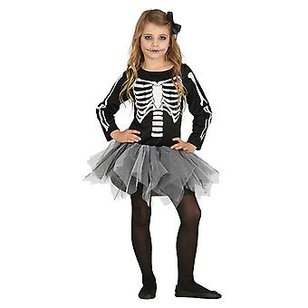 Filles Halloween Skeleton Tutu Fancy Dress Costume