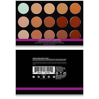 SHANY Professional creme fundação e camuflagem corretivo-15 paleta de cores
