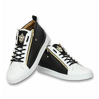 Shoes - Sneaker Bee Black White Gold - Black White
