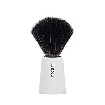 Nom Carl Black Fibre Shaving Brush - White