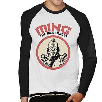 Flash Gordon Ming The Merciless Retro Men's Baseball Long Sleeved T-Shirt