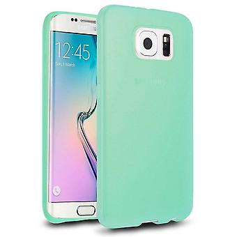 Samsung Galaxy S6 Edge Hoesje Siliconen Transparant Turquoise - CoolSkin3T
