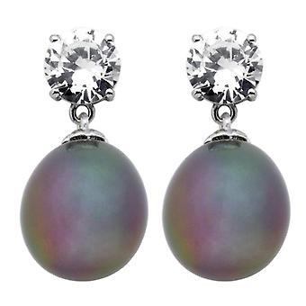 Burgmeister smykker-dame lobe øreringe med cubic zirkoner-sterling sølv 925-COD. JHE1088-223